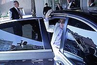 France , Nice . Journees d'ete du Front National 2011 . Jean-Marie Le Pen . Dimanche 11 septembre 2011 - ©Jean-Claude Coutausse / french-politics.com pour Le Monde