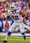 19 October 2014: Buffalo Bills running back Fred Jackson receives a screen pass for a 6-yard gain in the first quarter against the Minnesota Vikings at Ralph Wilson Stadium in Orchard Park, NY. The Bills defeated the Vikings 17-16 in a dramatic, last minute, comeback touchdown drive. Mandatory Credit: Ed Wolfstein Photo *** RAW (NEF) Image File Available ***