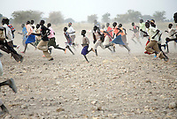 Winners celebrate a victory at the Twic Olympics in Wunrok, Southern Sudan.