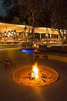 Exterior of the Chinzombo safari lodge restaurant area, Luangwa River Valley, Zambia, Africa
