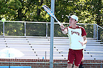 08 May 2015: Alex Gasson (ENG). The University of Denver Pioneers played the Mississippi State University Bulldogs at Cone-Kenfield Tennis Center in Chapel Hill, North Carolina in a 2015 NCAA Division I Men's Tennis Tournament First Round match. MSU won the match 4-3.