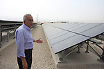 Palestinian Prime Minister Salam Fayyad visits the solar power station in the West Bank city of Jericho on September 30, 2012. Photo by Issam Rimawi