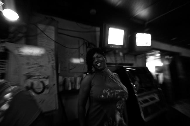 A bar patron at Grant's Lounge in Macon, Ga. May 30, 2009.
