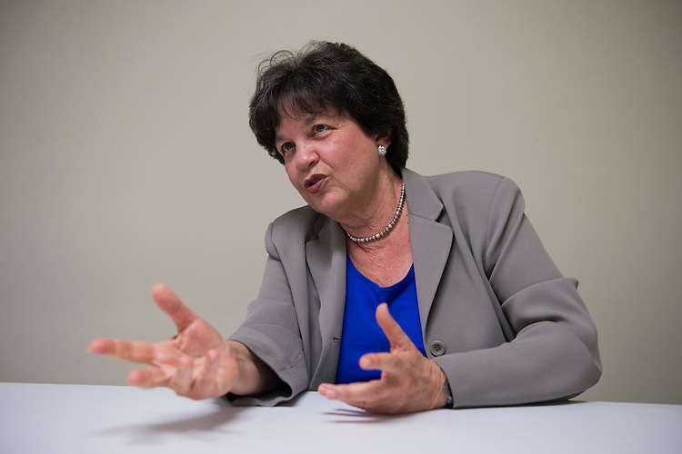 UNITED STATES - AUGUST 21:  Lois Frankel, democratic candidate for Florida's 22nd District, is interviewed by Roll Call after she spoke at the Broward County Democratic Executive Committee meeting, in Plantation, Fla.  (Photo By Tom Williams/CQ Roll Call)