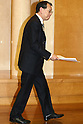 Apr. 27, 2010 - Tokyo, Japan - Toshishige Hamano, Representative Directors and Executive Vice Presidents of Sharp, attends a press-conference in Tokyo, on April 27, 2010. The Osaka-based electronics company said it expects Y52bn ($554m) operating profit, reversing a Y55bn operating loss last year, and Y4.4bn in net income, thanks of growing demand for its 3D liquid crystal display panels.