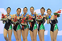 Japan national team group, AUGUST 22, 2011 -  Rhythmic Gymnastics : The 26th Summer Universiade 2011 Shenzhen Group Apparatus 5 Balls Final ..at Shenzhen Baoan Gymnasium, Shenzhen, China. (Photo by YUTAKA/AFLO SPORT) [1040]