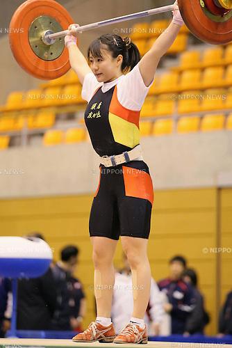 Kanae Yagi, MARCH 6, 2011 - Weightlifting : Kanae Yagi competes in the Women's 53kg weightlifting event during the all japan junior Weightlifting championship in Saitama city, Saitama Japan. (Photo by Yusuke Nakanishi/AFLO SPORT) [1090]