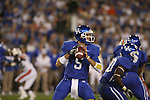 UK quarterback Mike Hartline looks for an open receiver against Auburn at Commonwealth Stadium on Saturday, Oct. 9, 2010. Photo by Scott Hannigan | Staff