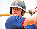 24 July 2010: Lowell Spinners outfielder Seth Schwindenhammer awaits his turn in the batting cage prior to a game against the Vermont Lake Monsters at Centennial Field in Burlington, Vermont. The Spinners defeated the Lake Monsters 11-5 in NY Penn League action. Mandatory Credit: Ed Wolfstein Photo