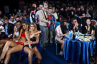 Moscow, Russia, 05/06/2010..Spectators at the new Fight Nights boxing tournament, including kick-boxing, boxing and mixed fighting.