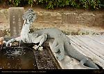 Dragon Fountain, Chozuya Purification Basin, To-in East Temple, Horyuji, Nara, Japan