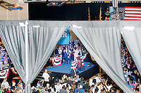 Democratic presidential nominee Hillary Clinton speaks at a campaign rally in the Theodore R. Gibson Health Center at Miami Dade College-Kendall Campus in Miami, Florida, USA. Former Vice President Al Gore also spoke at the rally.