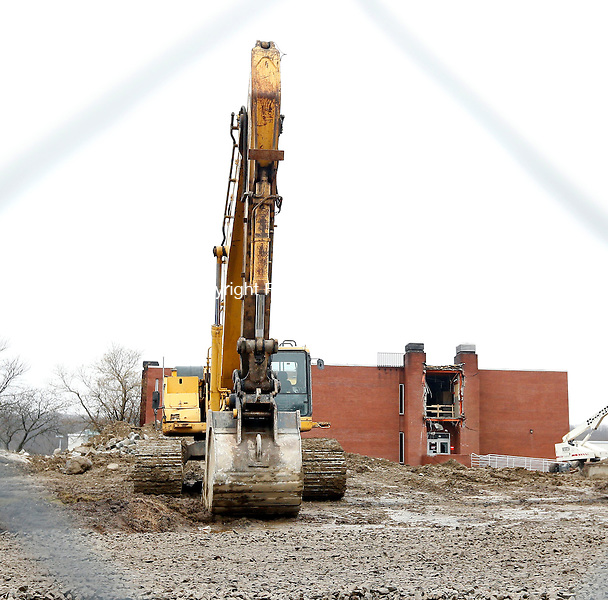 Waterbury, CT- 10 April 2015-041015CM07-   A section of  Founder's Hall at Naugatuck Valley Community College is partially renovated on Friday. The college will be holding a groundbreaking for a renovation project of Founder's Hall. Christopher Massa Republican-American