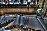 Old books in a disused Asylum