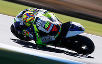 Yamaha MotoGP rider Valentino Rossi of Italy rides during the first practice session of the Australian Motorcycle GP in Phillip Island, Oct 18, 2013. Photo by Daniel Munoz/VIEWpress IMAGE RESTRICTED TO EDITORIAL USE ONLY- STRICTLY NO COMMERCIAL USE.