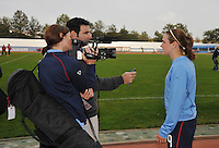 Heather O'Reilly interviewed - TV Camera.