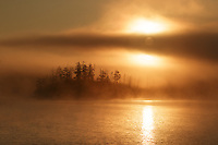 &quot;Foggy Sunrise on Kenny Lake&quot;<br />