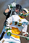 3 April 2010: University of Vermont Catamounts' Attacker Drew Philie, a Freshman from Sandwich, MA, in action against the Binghamton University Bearcats at Moulton Winder Field in Burlington, Vermont. The Catamounts defeated the visiting Bearcats 11-8 in Vermont's opening home game of the 2010 season. Mandatory Credit: Ed Wolfstein Photo