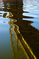Abstract River and Bridge Reflections