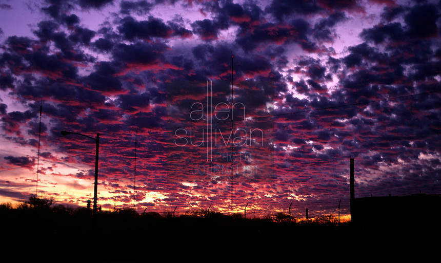 Clouds at sunset in unknown location of United States.