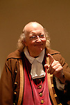 Ben Franklin historic character impersonator, mod rel..Philadelphia, Pennsylvania, PA USA.  Photo copyright Lee Foster, 510-549-2202, lee@fostertravel.com, www.fostertravel.com. Photo 297-30824