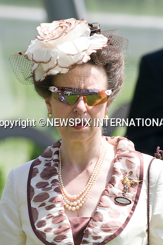 "PRINCESS ANNE.The Queen, Prince Philip, Princess Beatrice, Princess Eugenie and Princess Anne ride in the Royal precession on Ladies Day of Royal Ascot 2010_17/06/2010..Mandatory Photo Credit: ©Dias/Newspix International..**ALL FEES PAYABLE TO: ""NEWSPIX INTERNATIONAL""**..PHOTO CREDIT MANDATORY!!: NEWSPIX INTERNATIONAL(Failure to credit will incur a surcharge of 100% of reproduction fees)..IMMEDIATE CONFIRMATION OF USAGE REQUIRED:.Newspix International, 31 Chinnery Hill, Bishop's Stortford, ENGLAND CM23 3PS.Tel:+441279 324672  ; Fax: +441279656877.Mobile:  0777568 1153.e-mail: info@newspixinternational.co.uk"