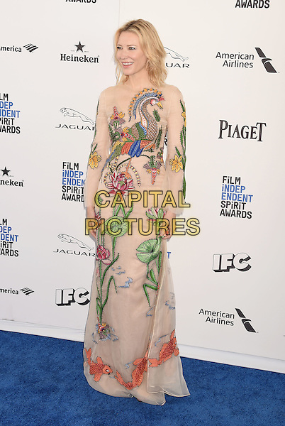 SANTA MONICA, CA - FEBRUARY 27: Actress Cate Blanchett arrives at the 2016 Film Independent Spirit Awards on February 27, 2016 in Santa Monica, California.<br /> CAP/ROT/TM<br /> &copy;TM/ROT/Capital Pictures