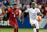 Kansas City, Kansas - Monday, July 13, 2015: The US Men's National team tie up the game 1-1 against Panama early in the second half during group play in the 2015 Gold Cup at Sporting Park.