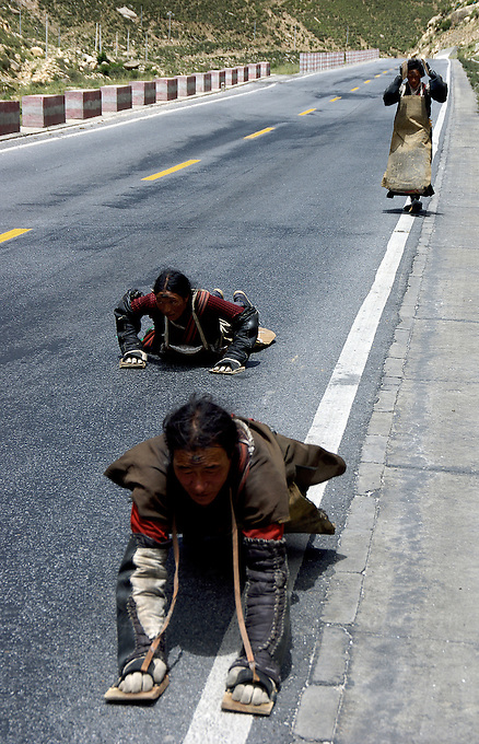 Images from the Book Journey Through Colour and Time,Pilgrims on the road to Lhasa