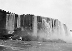 Niagara Falls, New York:  View of the American Falls from the Maid of the Mist - 1914
