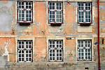 Europe, Estonia, Tallinn. Facade of an old building in the Toompea.
