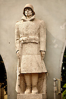 Statue of The Dead Soldier by Éva L?te - Hero Gate First  World War Memorial  - Szeged, Hungary