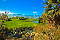 Golf Course, Stream, Rocks, Green, Fairway Mountains