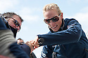 10th August 2011. Cowes. Isle of Wight..Pictures showing Zara Phillips onboard Artemis Ocean Racing, skippered by record-breaking yachtswoman Dee Caffari...The Artemis Challenge round the Island race...Aberdeen Asset Management Cowes Week 2011...Credit: Lloyd Images.
