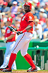 7 June 2009: Washington Nationals' outfielder Elijah Dukes in action against the New York Mets at Nationals Park in Washington, DC. The Mets shut out the Nationals 7-0 to take the third game of the weekend series. Mandatory Credit: Ed Wolfstein Photo