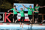 Kappa Delta jumpers go into the water at the University of Kentucky Phi Sigma Kappa Polar Plunge philanthropy event at South Campus benefitting the Special Olympics in Lexington, Ky., on Thursday, November 14, 2013. Photo by Tessa Lighty | Staff