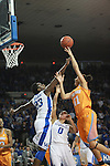 UK forward/center Samarie Walker attempts to block a shot by Tennessee forward Cierra Burdick during the second half of the UK Hoops vs. Tennessee at Memorial Coliseum in Lexington, Ky., on Sunday, March 3, 2013. Photo by Emily Wuetcher | Staff....