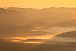 Valley fog at sunrise, Blue Ridge Parkway