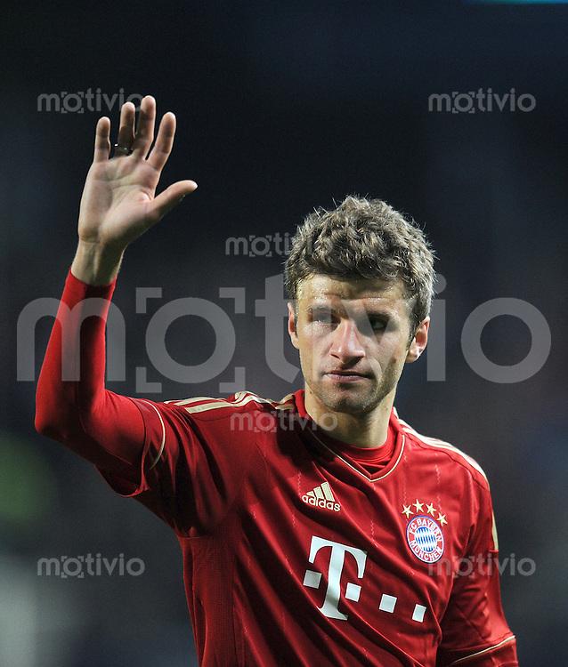 Fussball 1. Bundesliga :  Saison   2011/2012   Freundschaftsspiel  16.05.2011 FC Bayern Muenchen - Paulaner Auswahlteam Thomas Mueller (FC Bayern Muenchen) winkt