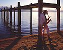 Lake Tahoe Landscape Saxophone Player