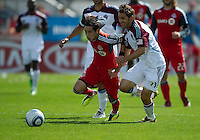 17 September 2011: Colorado Rapids midfielder Brian Mullan #11 and Toronto FC midfielder Eric Avila #8 in action during a game between the Colorado Rapids and Toronto FC at BMO Field in Toronto.