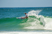 Burleigh Heads, Queensland,Australia: Sunday February 10 2013: Alejo Muniz (BRA).   Owen Wright (AUS) put on a masterly display of back-hand surfing to defeat fellow Australian Adam Melling (AUS) in the final of the 4-star Breaka Burleigh Pro today on the Gold Coast..Midway through the final, Wright, who finished 11th on the World Championship Tour (WCT) in 2012, locked in an excellent 9.17 (out of a possible 10), he then backed it up with a 6.10 to secure the win. The final score-line saw Wright on 15.27 to Melling's 13.97..The win is timely for  Wright who will be competing in the ASP World Championship Tour first event, The Quiksilver Pro at Snapper Rocks in less than three weeks time..Wright's win also completed a unique double for South Coast NSW surfers following Sally Fitzgibbons  (AUS) victory yesterday in the Breaka Burleigh Women's division..Finishing the event in equal third place were New Zealand's Ricardo Christie (NZL) and Brazil's Alejo Muniz (BRA). Despite his blistering form throughout the early rounds of the event, Christie was unable to replicate the same high scores he'd found earlier in the event, while surfing against Adam Melling in the first Semifinal..Photo: joliphotos.com