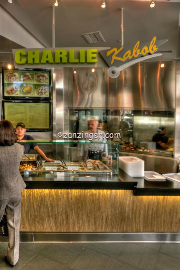 Charlie Kabob, Food Court, The Market, Santa Monica Place, Santa Monica, CA; Dining, Fast Food, restaurant,