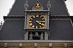 Europe, Netherlands, Amsterdam. Rijksmuseum Clockface.