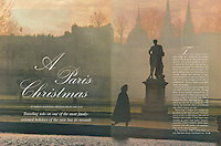 Travel Holiday Magazine, Paris Christmas Story