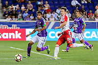 Harrison, NJ - Wednesday Aug. 03, 2016: Sixto Betancourt, Alex Muyl during a CONCACAF Champions League match between the New York Red Bulls and Antigua at Red Bull Arena.