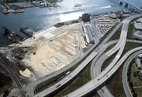 1983 September..Redevelopment.Downtown South (R-9)..AERIAL VIEW.HARBOR PARK SITE.LOOKING SOUTH...NEG#.NRHA#..