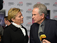 LOS ANGELES, CA. November 10, 2016: Actor/director Warren Beatty &amp; actress wife Annette Bening at World Premiere of &quot;Rules Don't Apply&quot;, part of the AFI Fest 2016, at the TCL Chinese Theatre, Hollywood.<br /> Picture: Paul Smith/Featureflash/SilverHub 0208 004 5359/ 07711 972644 Editors@silverhubmedia.com