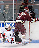 Steve Silva (Northeastern - 17), Brian Dumoulin (BC - 2) - The Northeastern University Huskies defeated the visiting Boston College Eagles 2-1 on Saturday, February 19, 2011, at Matthews Arena in Boston, Massachusetts.