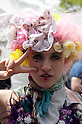 April 29, 2012, Tokyo, Japan -  A foreign woman wears the colorful wig at Yoyogi Park. The first Tokyo Rainbow Pride parade started from Yoyogi Park and went around the Harajuku area.  (Photo by Rodrigo Reyes Marin/AFLO) (JAPAN)   .